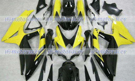 Fairing Plastic Fit for 2008-2010 GSX-R 600 750 Injection Black Yellow New a#46