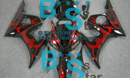 Pattern Red INJECTION Fairing Yamaha YZFR6 YZF-R6 2003-2005 R6S 2006-2009 33 B6