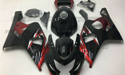 Injection Kit ABS Plastic Fairing Fit for 2004-2005 GSX-R 600 750 Black Red aBA