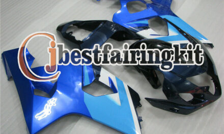Fit for 2004-2005 GSX-R 600 750 K4 Mold ABS Blue Injection Body Kit Fairing a#11