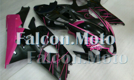 Pink Black Injection Mold Fairing Fit for 2004 2005 GSX-R 600 750 K4 Plastic ABS