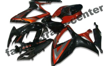 FTC Injection Red Black Fairing Fit for Suzuki 2006 2007 GSXR 600 750 a082