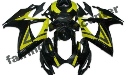 FTC Injection Yellow Black Fairing Fit for Suzuki 2006 2007 GSXR 600 750 a061