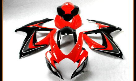 ABS Plastic Injection Fairings Cowl for 2006-2007 Suzuki GSXR 600 750 Red Black