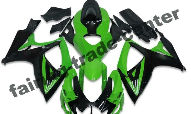 FTC Injection Black Green Fairing Fit for Suzuki 2006 2007 GSXR 600 750 a009
