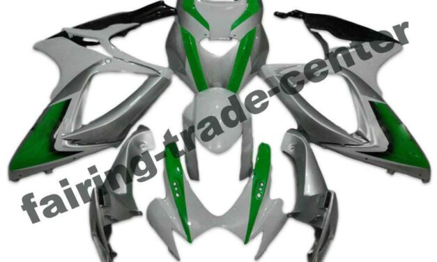 FTC Injection White Green Fairing Fit for Suzuki 2006 2007 GSXR 600 750 a075