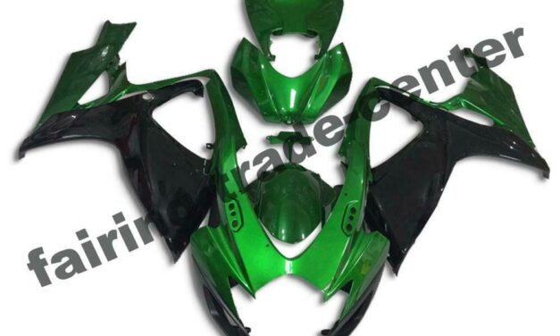 FTC Injection Green Black Fairing Fit for Suzuki 2006 2007 GSXR 600 750 a0106