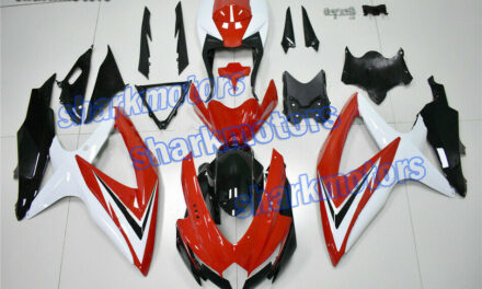 Fairing Fit for 2008-2010 GSXR 600 750 K8 Red White Black Injection ABS Mold aB7