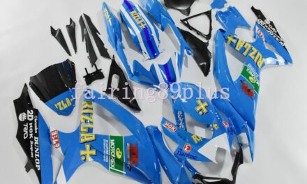 Blue Black RIZLA ABS Injection Fairing Kit Fit for 2008-2010 GSXR600 GSXR750