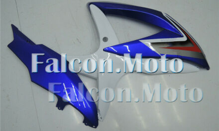 Right Side Fairing for 2008-2010 Suzuki GSXR 600 750 K8 Blue White Injection aAG