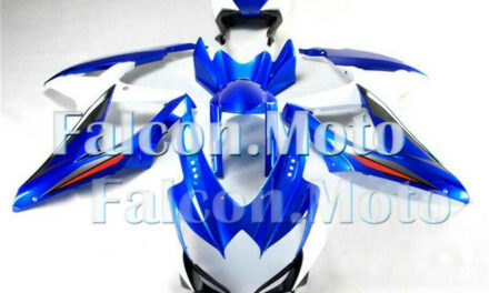 Fairing Fit for 2008 2009 2010 GSXR 600 750 K8 Blue White Injection Body Kit aGB