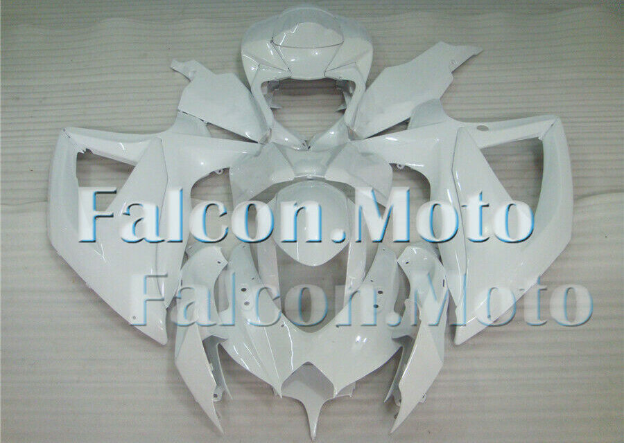 New Fairing Fit for 2008-2010 GSXR 600 750 K8 Gloss White ABS Injection Mold iBH