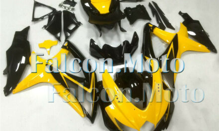 New Fairing Fit for 2008-2010 GSXR 600 750 K8 Yellow Black ABS Injection Mold BL