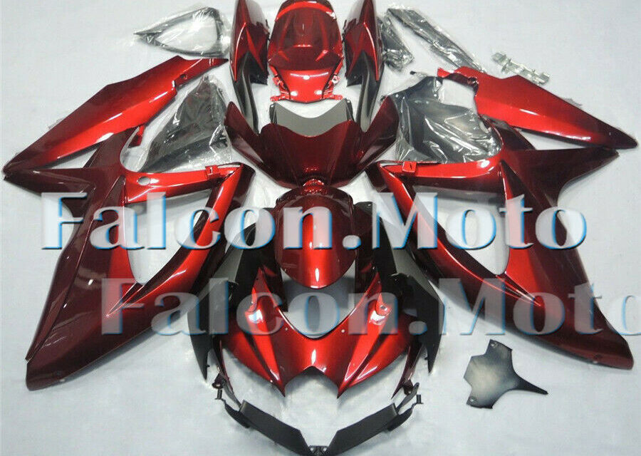 Pearl Red Fairing Fit for 08-2010 GSXR 600 750 K8 Injection Plastic BodyworkaCJ
