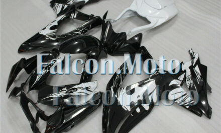 White Black Injection Mold Fairing Fit for 2008 2009 2010 GSXR 600 750 K8 ABS AC