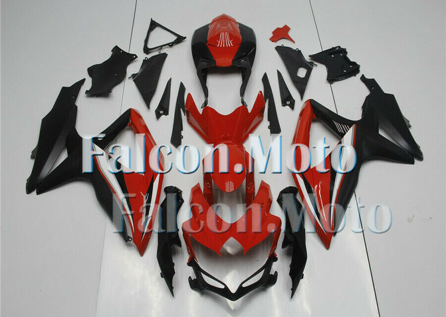 Red Black Injection Mold Fairing Fit for 2008 2009 2010 GSXR 600 750 K8 ABS iAB