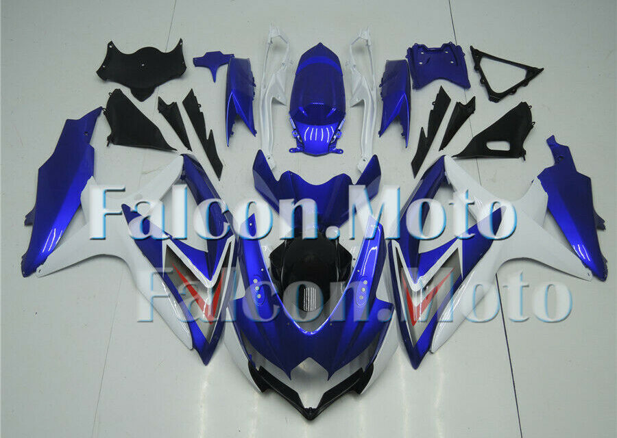 Blue White Injection ABS Fairing Fit for 2008 2009 2010 GSXR 600/750 K8 Mold iAH