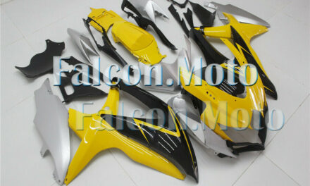 Yellow Black Silver Injection ABS Fairing Fit for 2008-2010 GSXR 600/750 K8 Mold
