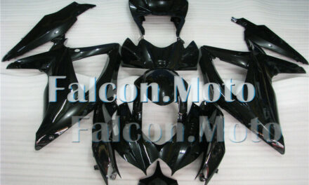 Fairing Fit for GSX-R 600 750 K8 SUZUKI 2008-2010 Injection ABS Glossy Black aET