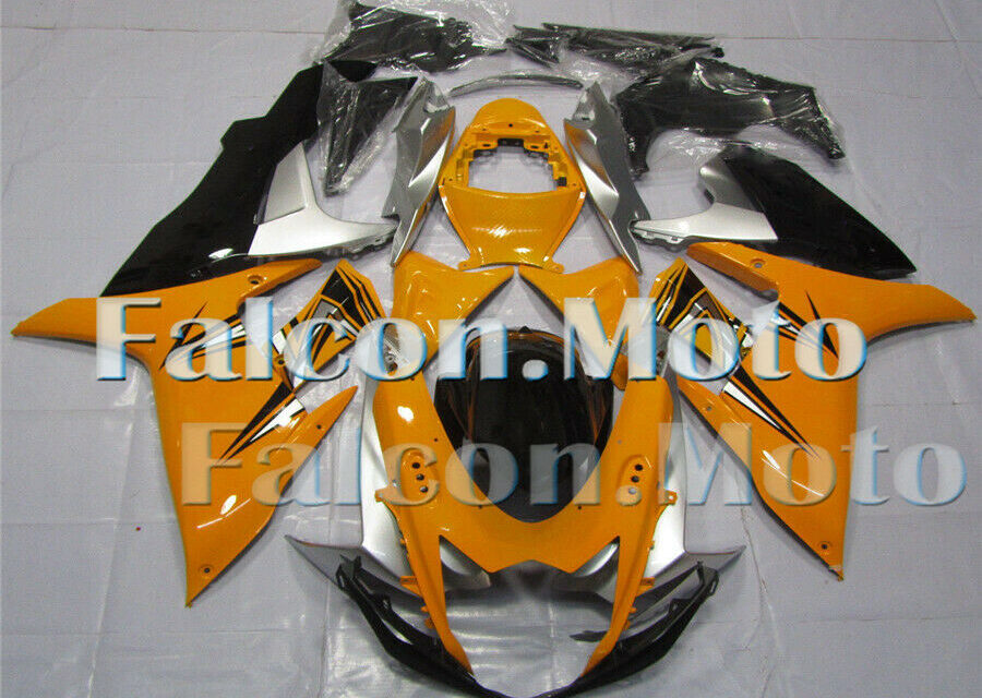 Injection Yellow Silver Black Fairing Fit for GSXR 600 750 2011-2019 K11 ABS aCS