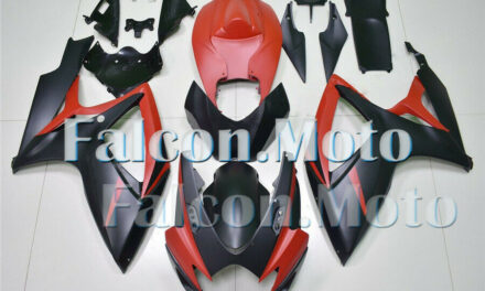Fairing Fit for 2006 2007 GSX-R 600 750 06 K6 Injection Mold Matte Black Red aHX