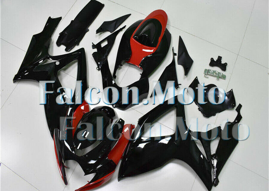 Injection Fairings kit Fit for 2006-2007 GSX-R 600 750 K6 ABS Red Black New aHN