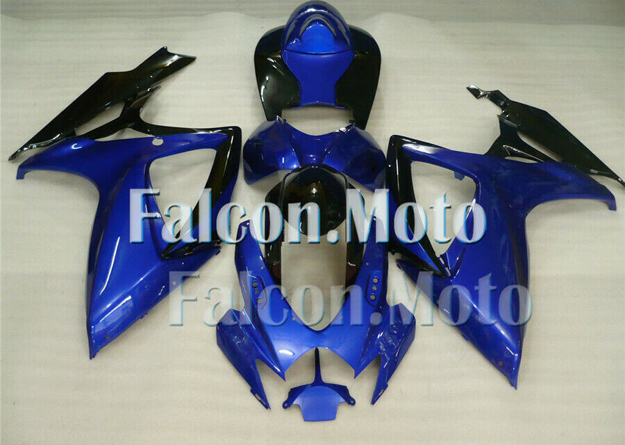 Fit for 2006-2007 06-07 GSXR 600 750 K6 Plastic Blue Black Fairing Injection aHP