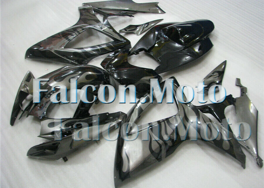 Injection fairings kit Fit for 2006-2007 06-07 GSX-R 600 750 ABS Grey Black aHL