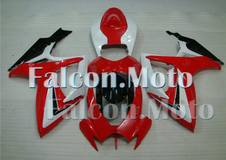 Red White Black ABS Injection Fairing Fit for 2006 2007 GSXR 600 750 K6 Bodywork