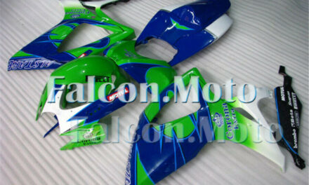 Green Blue Injection Body Kit Fairing Fit for GSXR 600 750 2006 2007 K6 Mold aCK