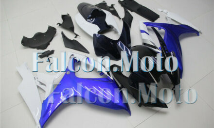 Fairing Injection Fit for 2006-2007 GSX-R 600 750 K6 ABS Plastic White Blue aHS