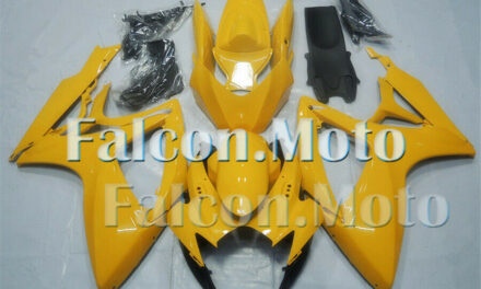 Yellow Injection Mold ABS Plastic Fairing Fit for 2006-2007 GSX-R 600 750 K6 aAZ