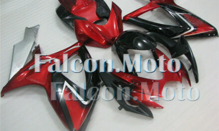 Red Black Silver ABS Plastic Injection Fairing for 2006-2007 GSXR 600 750 K6 aEF