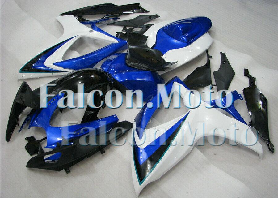 Blue Black White Fairing Injection ABS Fit for 2006-2007 GSXR GSX-R 600 750 k6