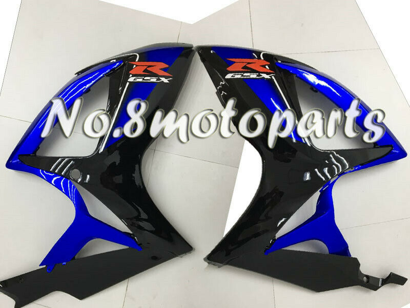 Gloss Black Blue Injection Left + Right Side Fairing Fit for GSX-R 600 750 06-07