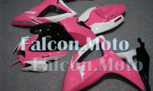 Pink Black White Fairing Fit for GSX-R 600 750 K6 2006-2007 Injection Mold aEY