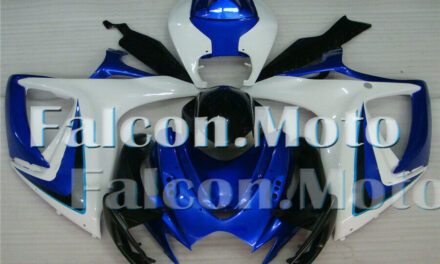 Blue White Black Fairing Fit for 2006 2007 GSXR 600 750 K6 ABS Injection Mold AH