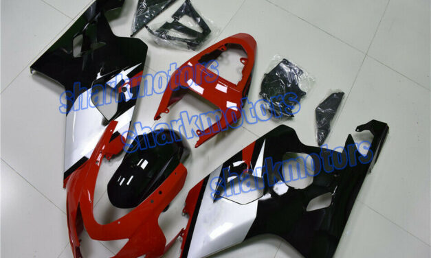 Fairing Red Black Fit for GSXR 600 750 2004-2005 K4 Plastic Injection mold aC8