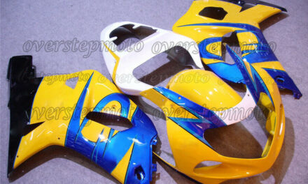 Injection White Yellow Blue Fairing Kit Fit for 01-03 GSXR 600/750 2001-2003 aAQ