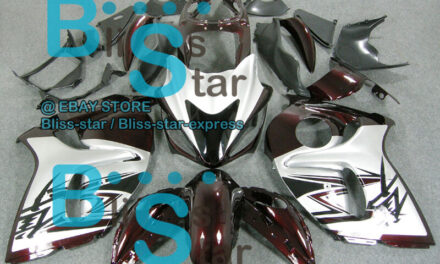 Red Silver INJECTION Fairing With Tank For SUZUKI GSX-R1300 Hayabusa 08-19 12