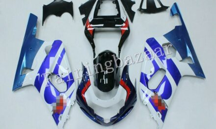 Fit for 2001-2003 GSXR600/GSXR750 Blue White Black Red ABS Injection Fairing Kit