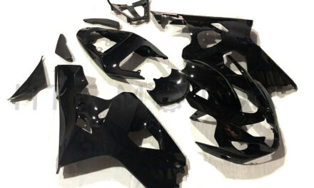 Gloss Black Fairing Kit Fit for Suzuki GSXR 600 750 2004-2005 ABS Injection