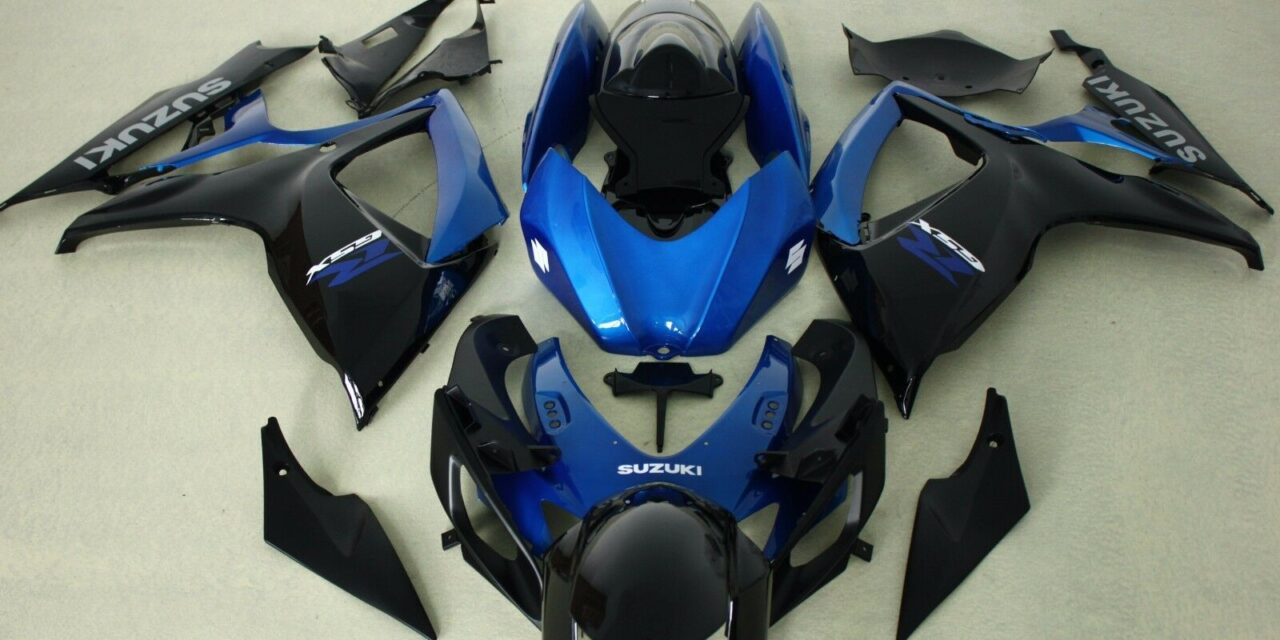 AFTERMARKET ABS PLASTIC FAIRINGS FOR GSXR600/750 06-07 BLUE AND BLACK COLOR