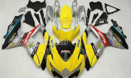 yellow Black Silver Injection Fairing Fit for Suzuki 2008-2010 GSXR 600 750 a#46