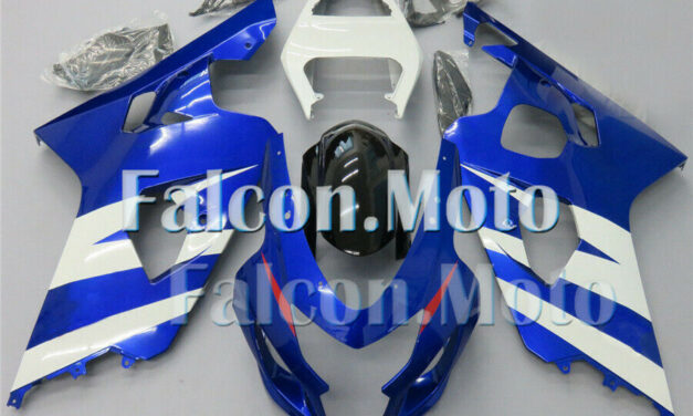 Fairing Set Fit for 2004 2005 GSXR 600 750 K4 Plastic Injection Blue White aJF