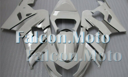 White Silver Fairing Fit for 2004 2005 GSXR 600 750 K4 Injection Plastic ABS aIH