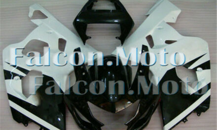 Injection Mold Black White Fairing Fit for GSXR GSX-R 600 750 K4 2004 2005 aGG