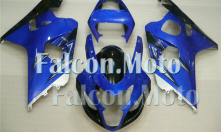 Blue Black Silver Injection Mold Fairing Fit for 2004 2005 GSX-R 600 750 K4 aFY