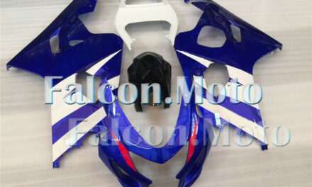 Complete Blue White Injection Fairing Kit Fit for 2004-2005 GSX-R 600 750K4 aFW
