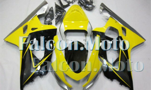 Silver Yellow Black Injection Fairing Fit for 2004 2005 GSX-R 600 750 K4 ABS aJH
